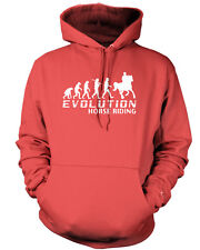 EVOLUTION OF HORSE RIDING Mens / ladies Hoodie Adult Equestrian Horse Clothing