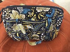 Vera Bradley Essentials Cosmetic Travel Bag Makeup Bag Ellie Blue Elephant
