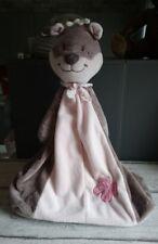Peluche doudou range couches pyjama écureuil Léontine brun beige rose Noukie's
