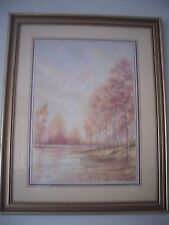 Vintage Stuart Taylor Signed Gilt Framed & Glazed Print Of Rural Woodland Scene