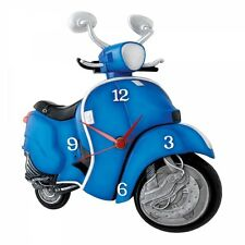 Vespa Scooter Bike Wall Clock By Time Warp