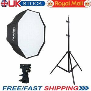 UK Godox 80cm Umbrella Octagon Softbox and Light Stand Kit For Flash Speedlite