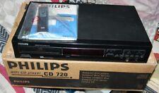 PHILIPS CD720 Hi-Fi CD Player mit neu Fernbedienung, BA & Original Karton