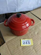 Small Red Casserole Dish Dual Handles Pot For One y243