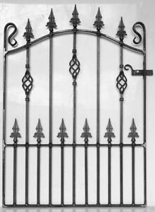 Wrought Iron Metal Garden Gate/Gates-TOP QUALITY-  to fit 3ft  (914mm)  opening