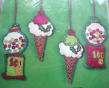 Bucilla Holiday Felt Applique Ornaments Kit,CHRISTMAS SWEETS,#2337