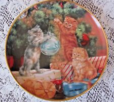 "Franklin Mint ""Trimming The Tree"" Collector Plate By Lesley Hammett Ta 1759"