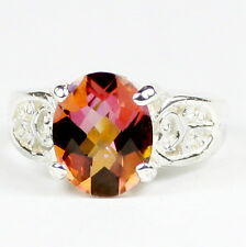 Twilight Fire Topaz, 925 Sterling Silver Ladies Ring, SR369-Handmade