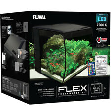 Fluval Flex 34 Liter LED Nano Aquarium schwarz mit Technick