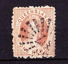 QUEENSLAND 1869-76  Victoria  1p. Orange