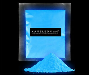 450G (SKYBLUE) Glow in the Dark Pigment Powder for Arts and Crafts Etc