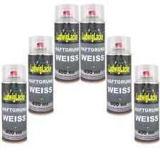 Haftgrund Weiss 6x 400ml Spray Grundierung Füller Autolack von Ludwiglacke