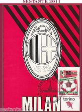 ITALIA MAXIMUM MAXI CARD MILAN CAMPIONE D'ITALIA 1987 - '88 1988 TORINO B251