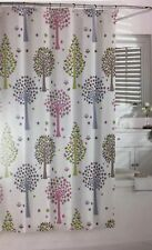 Bambini Kassatex Fabric Shower Curtain- Merry Meadow Bright Trees Owl- 72 x 72""