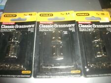 "3pks of 4 Stanley 803052 Cabinets Chests 3/4"" Antique Brass Narrow Hinges (B124)"