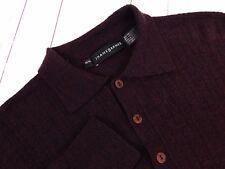 Jhane Barnes Men's Wool Maroon Polo Sweater Size M
