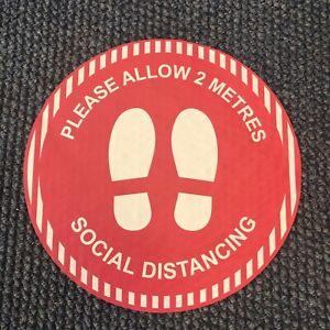 Social Distancing Floor Stickers - 2 metres - Anti Slip