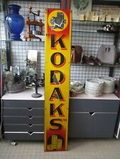 AL429 PLAQUE EMAILLEE ANCIENNE KODAKS KODAK 174X30 cm VITRACIER  JAPY ORIGINALE