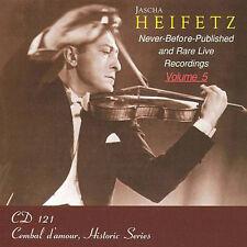 Jascha Heifetz: RARE live recordings, volume 5/CD (NUOVO, CONFEZIONE ORIGINALE)