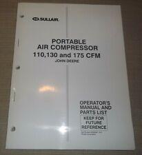 Sullair 110 130 175 John Deere Air Compressor Parts Operation Maintenance Manual