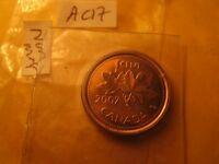 Canada 2007 Rare Non Magnetic Gem Mint Penny ID#AC16.