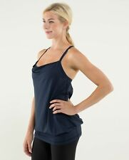 Women's Sz 6 LULULEMON C.Y.B Tank Inkwell/Wee Are From Space October Inkwell LN