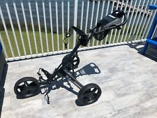 Clicgear 3.5 + Push Cart - Black, hardly used w/umbrella hldr, cooler & cup hldr