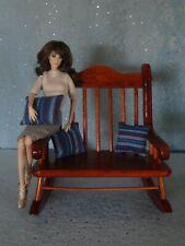 "AllforDoll DIORAMA Furniture BENCH for 16-18"" Dolls - Tonner Kaye Wiggs Ficon"