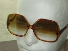 Vintage 1980'S Oversize Tortoise Shell Brown Fade Square Sunglasses - Nos