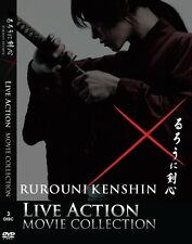 DVD Samurai X Rurouni Kenshin 3 IN 1 Live Action Movie ( ENGLISH SUBTITLE )