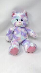 Build A Bear Plush Pastel Swirl Tie-dye Kitty Cat Pink Purple Blue 16 in