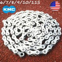 KMC 6/7/8/9/10/11 Speed Chains MTB Bike Cassette Chain Cycling Fits Shimano SRAM