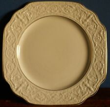 A Crown Devon squared plate ivory with moulded border
