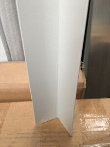 Aluminium Extrusions 40 x 40mm L Angle 6.5m Surf Mist Off White Coolroom Panel