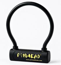 Pinhead bulle Manille Verrou de cadre de vélo en acier noir 195 x 230 mm cycle Gold Secure