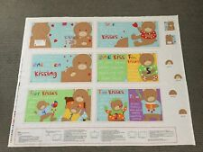 Children Kids Soft Cloth Baby Book Animal Fabric Quilt Panel Bear Bedtime Story