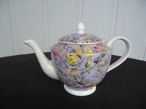maxwell & williams cashmere winter bloom lilac purple teapot