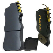 2 X Black FlicWic Hemp Wick Dispenser Lighter Sleeves for Mini BIC Hemp Lighter