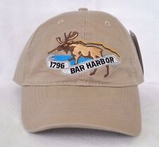*BAR HARBOR MAINE Bull Moose Acadia National Park Ball cap hat OURAY embroidered