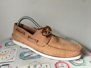 NEXT NUBUCK TAN LEATHER MEN`S BOATING DECKING SHOES  Size 9 / 43