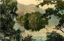 UK, Scotland, Loch Katrine, Ellen's Isle Early Postcard