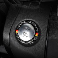 Carbon Fiber Engine Start Stop Button Ring Decor For Mercedes Benz C Class W205