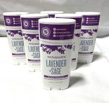 6 X Schmidt's Natural Deodorant Lavender + Sage ~ 6 PACK ~ Exp 2020