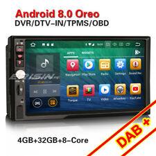 Doppel Din 8-Kern Android 8.0 Autoradio GPS BT WiFi DVB-T2 OBD2 DAB+Navi TPMS SD