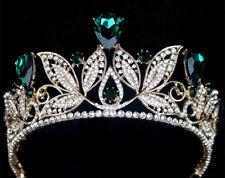 Pageant Blue Red Tiara Wedding Bridal Rhinestone Crystal Crown Prom Headband Ses