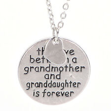 The Love Between Grandmother And Granddaughter Pendant Necklace Family Love Gift