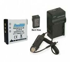 DLi68 DL-i68 1100mAh Battery + Charger for Pentax S10 S12 S-10 Q BLACK Q WHITE