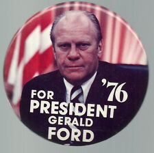 LARGE FORD FLAG 1976 COLOR PRESIDENT PIN
