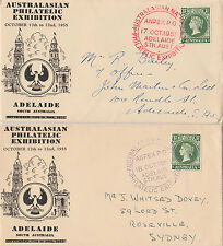 Stamps Australiasian Philatelic Exhibtion pair FDC covers commemorate postmarks