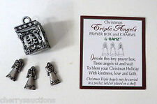 s TRIPLE CHRISTMAS ANGELS angel BOX CHARM Prayer box triplet blessing love ganz